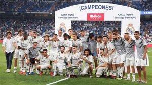 El Real Madrid superó 3-1 al Milán en la última edición de 2018