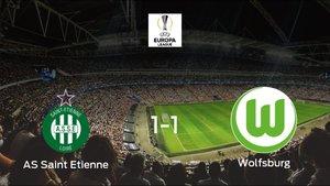 El Saint-Étienne y el Wolfsburgo suman un punto tras empatar a uno