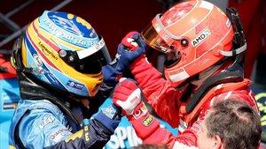 Schumacher ganó la última carrera de Imola en 2006 tras un espectacular duelo con Alonso