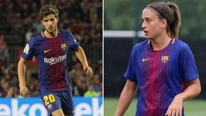 Sergi Roberto y Alèxia Putellas, mejores futbolista de la temporada 2016-17