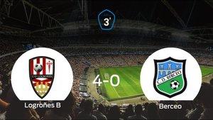 Sólido triunfo para el equipo local: Logroñes B 4-0 Berceo