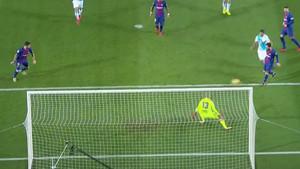 Suárez abrió el marcador contra el Deportivo