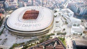 Una maqueta del futuro estadio del Barcelona