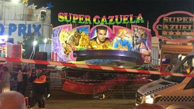 Una veintena de heridos en accidente atracción de feria en un pueblo Sevilla
