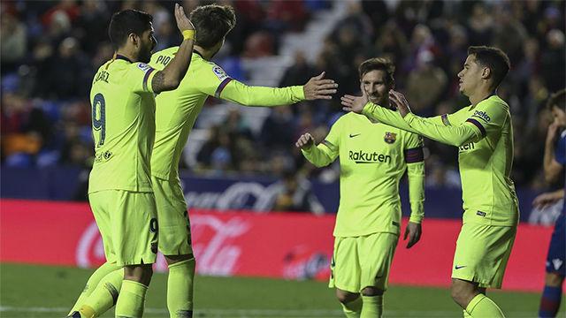 Vea las notas de los jugadores del Barça ante el Levante