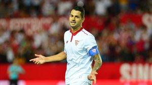 Vitolo en su etapa como jugador del Sevilla