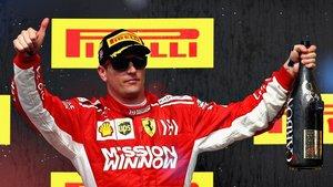 Kimi, en el podio de Austin