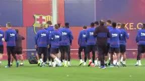 Ansu Fati, protagonista del entreno del Barça previo al duelo ante el Levante
