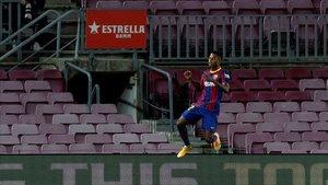 Ansu fue el mejor del Barça en el debut de Koeman
