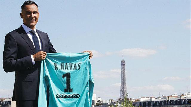 Así ha anunciado el PSG el fichaje de Keylor Navas