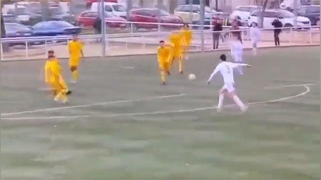 Así celebró Zidane el gol de su hijo, Elyaz
