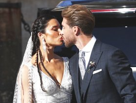 Así fue el brillante vestido de Pilar Rubio en su boda con Sergio Ramos