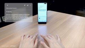 Así es el teclado invisible de Samsung