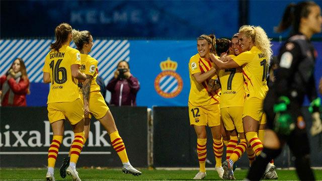 El Barça arrolló al Espanyol en el primer derbi liguero de Primera Iberdrola