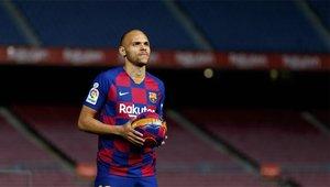 Braithwaite, en el día de su presentación con el FC Barcelona