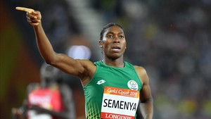 La campeona sudafricana Caster Semenya