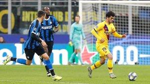 Carles Aleñá volvió a ser titular ante el Inter