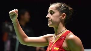 Carolina Marín celebró su cuarto título del año