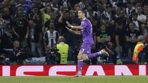 Cristiano Ronaldo celebró su gol