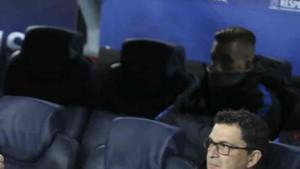 Deulofeu estuvo en el banquillo en el Barcelona - Sporting CP