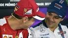 Felipe Massa bromea con Sebastian Vettel en la rueda de prensa previa al GP de Brasil