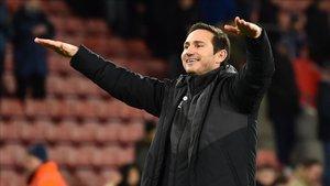 Frank Lampard en un partido con el Derby County