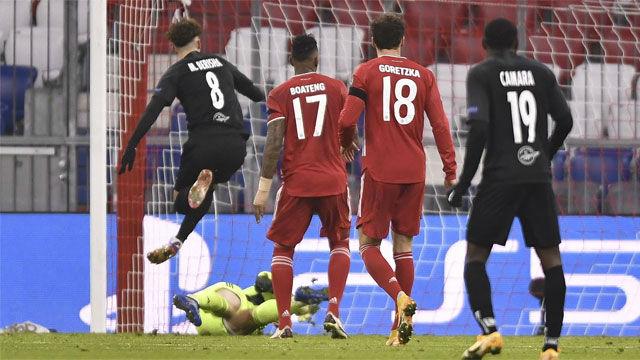 El gol de Berisha ante el Bayern Múnich
