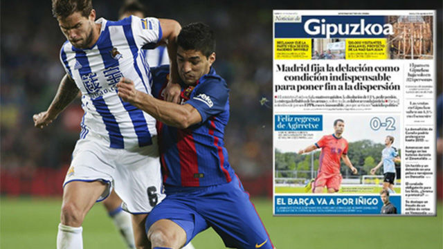 El golazo de Iñigo Martínez frente al Sporting