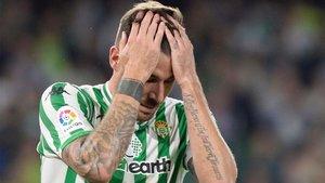 Javi García sufre una rotura muscular en el recto anterior
