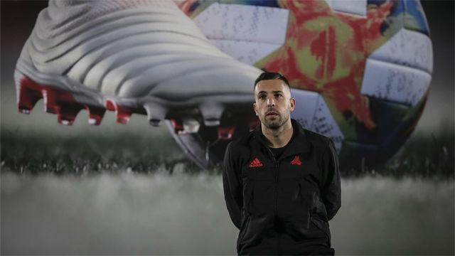 Jordi Alba, protagonista en un acto de Adidas