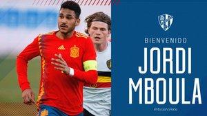 Jordi Mboula jugará cedido en el Huesca