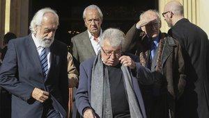 Josep María Minguella también acudió a dar el último adiós al expresident Núñez