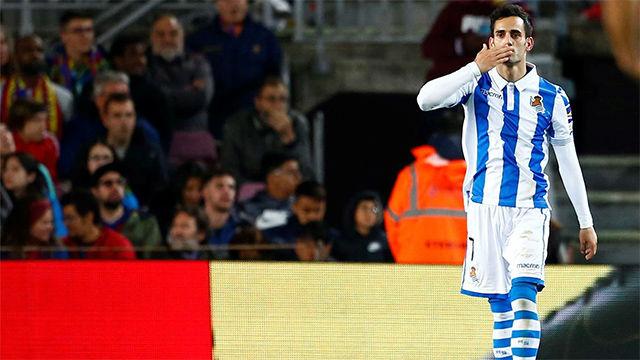 Juanmi metió el miedo al Barça