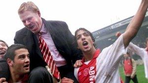 Koeman y Mido, en su etapa en el Ajax