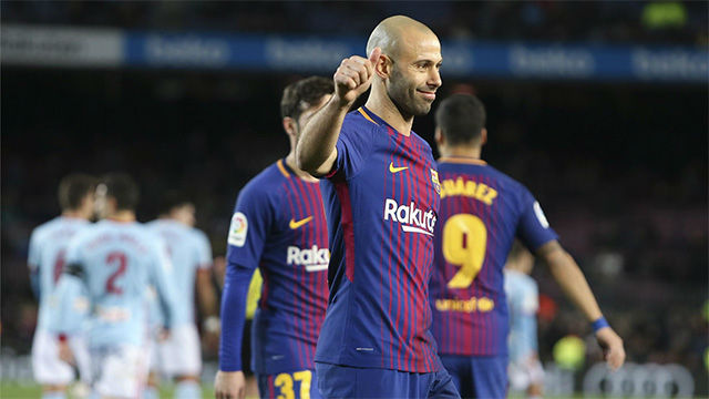LACOPA | FC Barcelona - Celta de Vigo (5-0): El partido de Mascherano