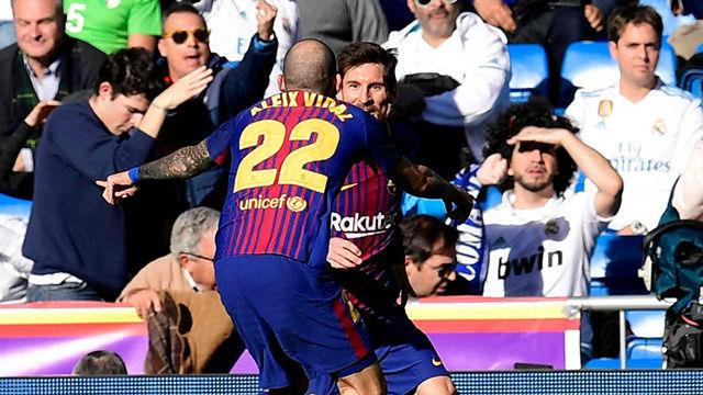 LALIGA | Real Madrid - FC Barcelona (0-3): El gol de Aleix Vidal