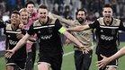 De Ligt celebra el gol contra la Juve