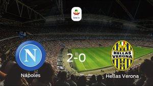 Los tres puntos se quedan en casa tras la victoria del Nápoles ante el Hellas Verona (2-0)
