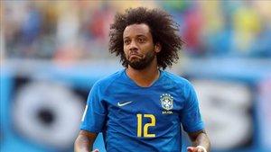 Marcelo en el Mundial con Brasil