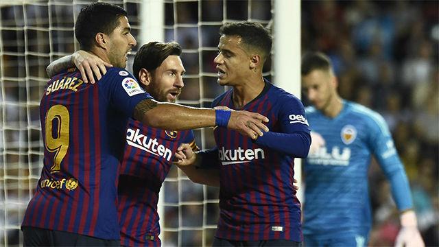 Messi se inventó un gol de la nada para salvar al Barça