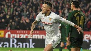 Ocampos, en el último partido que el Sevilla ha disputado con el Athletic