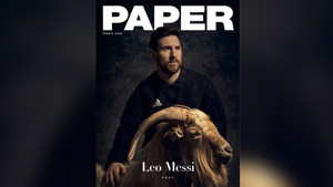 Paper Magazine dedica su portada a Leo Messi y una cabra