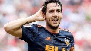 Parejo, en una imagen de archivo, anotó el gol del empate valencianista