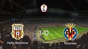 La Peña Deportiva se queda con la victoria frente al Villarreal B (1-0)