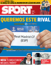 La portada de SPORT