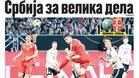 La portada de Sportski žurnal que destaca la actuación de Jovic