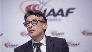 El presidente de la IAAF Sebastian Coe