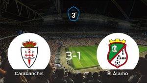 El RCarabanchel vence 3-1 a El Álamo en La Mina de Carabanchel