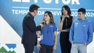 Rider Toni Toledo y la esquiadora Núria Pau