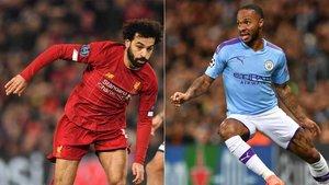 Salah (Liverpool) y Sterling (Manchester City), duelo en la distancia por mandar en la Premier League